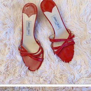 SALE👠Jimmy Choo Red Kitten Heels